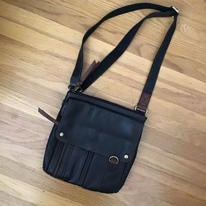 Fossil leather crossbody EUC